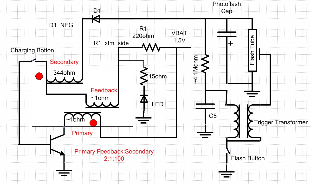 Photoflash Charger Ic Patent Video And Blocking Oscillator Flyback Camera Flash Circuit Further Disposable Schematic